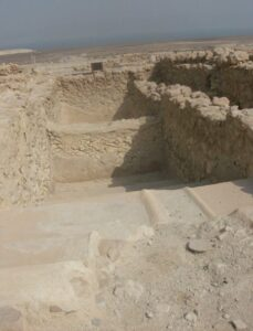 Excavated mikveh in Qumran (Image by Saintjennifer - Own work, CC BY-SA 3.0, https://commons.wikimedia.org/w/index.php?curid=33197477