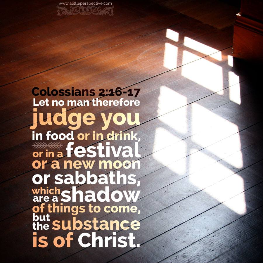 Colossians 2:16-17